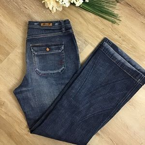 Seven7 High Rise Wide Leg Distressed Jeans